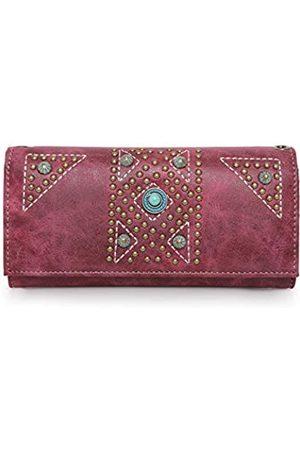 Montana West Handtasche und Geldbörse versteckte Tragetasche für Damen Leder bestickt Western Design Ranzen mit Geldbörsen Set