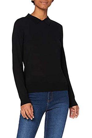 MERAKI Damen Pullover aus Merinowolle, (Black), 36