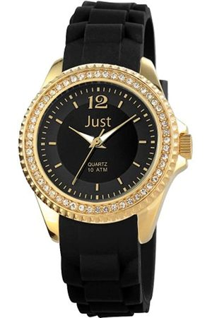 Just Watches Damen-Armbanduhr Analog Quarz Kautschuk 48-S3859-GD-BK
