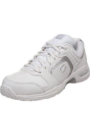 Wilson Women's Pro Staff Fury Tennis Shoe,White/Silver
