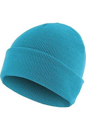 MSTRDS Unisex Strickmütze Basic Flap Beanie - einfarbige, neutrale Wintermütze für Damen und Herren ohne Druck und Stick, ohne Logo - Farbe turquoise
