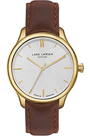 Lars Larsen Herren-Armbanduhr LW20 Analog Quarz Leder 120GBBL