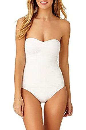 Anne Cole Damen Front-Shirred Bandeau One-Piece Swimsuit Einteiliger Badeanzug