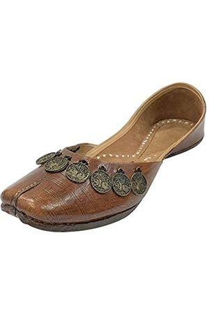 Step N Style Damen-Schuhe, reines Leder, Pakistanisch, Juti, Punjabi, Jutti, Ethnisch, Mojari, handgefertigt