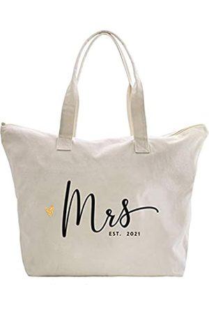 """Caraknots Einkaufstasche mit Aufschrift """"Future Mrs 2021"""", für Hochzeiten, Junggesellinnenabschiede, als Geschenk, aus Segeltuch"""