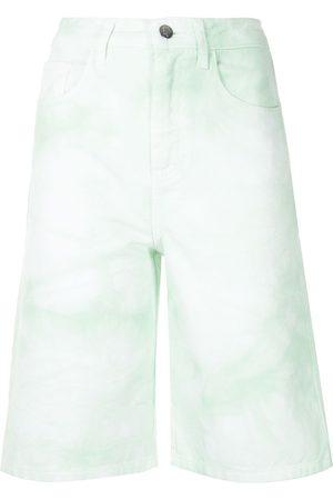 Ireneisgood Hoch sitzende Jeans-Shorts