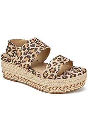 Seven Dials Damen Leawood Slide Sandale, (Natur/Leopard)