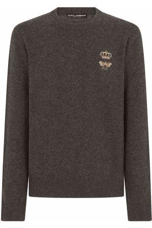 Dolce & Gabbana Herren Strickpullover - Pullover mit Stickerei