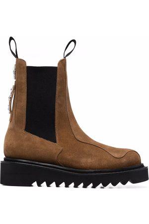 TOGA VIRILIS Herren Chelsea Boots - Chelsea-Boots aus Wildleder mit Nieten