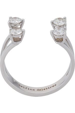 DELFINA DELETTREZ 18kt 'Dots' Weißgoldring mit Diamanten