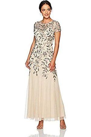 Adrianna Papell Damen FLORAL Beaded Godet Gown Dress Kleid für besondere Anlässe
