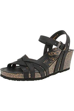 Panama Jack Damen Vera Basics Offene Sandalen mit Keilabsatz, (Black)