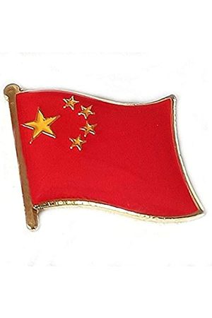 OSdream AnstecknadelnMotiv:chinesischeNationalflaggeinternationaleReiseemailliertMetallSouvenirfürHutKleidungRucksack