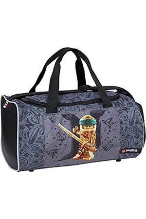 BBM Lego Bags Sporttasche mit Schuhfach und Nassfach, Reisetasche für Kinder, Schulsporttasche mit Lego NINJAGO Gold Motiv, Gym Tasche aus Polyester, Weekender für Schüler