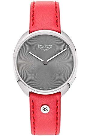 Soehnle Bruno Söhnle Damen Analog Quarz Uhr mit Leder-Kalbsleder Armband 17-13211-771