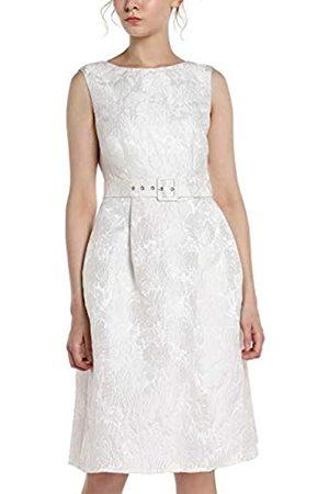 Apart APART Elegantes Damen Kleid, Cocktailkleid, Brautkleid, aus Jacquard, crème-Farben, ärmellos, V-Ausschnitt im Rückenpart