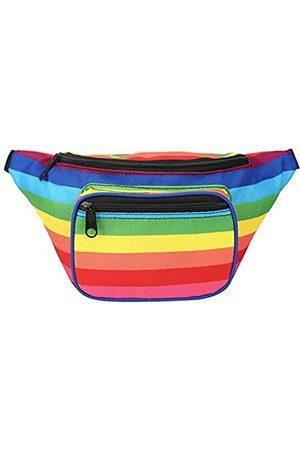 HDE Bauchtasche [80er Jahre] Hüfttasche Outdoor Reise Crossbody Hüfttasche (mehrfarbig) - -52050