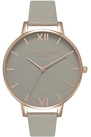 Olivia Burton Damen Analog Quarz Uhr mit Leder Armband OB15BD61