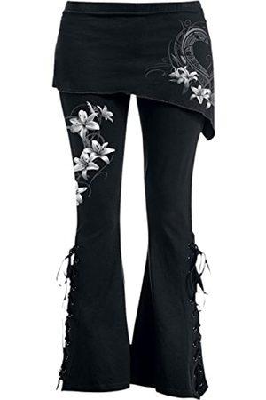 Spiral Damen Leggings & Treggings - Damen Pure of Heart-2in1 Boot-Cut with Micro Slant Skirt Legging