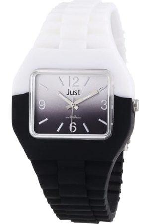 Just Watches Unisex-Armbanduhr Analog Kautschuk 48-S6501-WH-BK