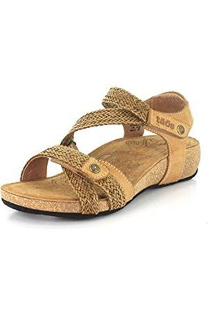 Taos Trulie Damen-Sandale mit Keilabsatz, (Camel)