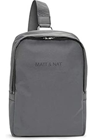 Matt & Nat Vegane Handtaschen, Wujie Oam Rucksack, Schwarz – 100 % tier- und tierversuchsfrei, 1 Jahr Garantie, 100% recyceltes Innenfutter