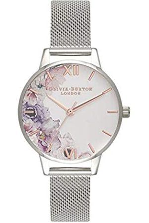 Olivia Burton Damen Analog Quarz Uhr mit Edelstahl Armband OB16PP37