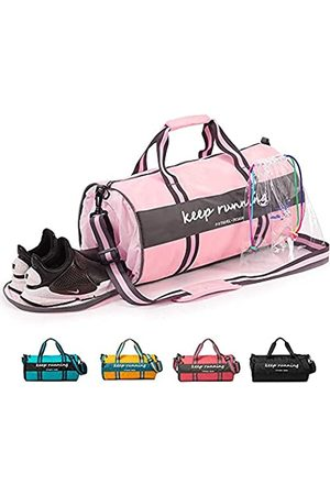 P.travel Girls Gym Sport Duffle Bag Wet Pocket Water - Proof with Shoes Compartment for Women & Teenagers Travel Duffel Bag for Weekender Travel Bag S
