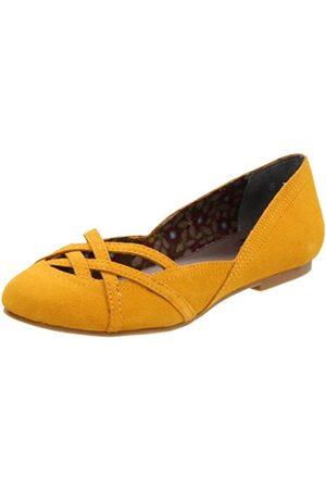 BC Footwear Crazy Like A Fox Damen Ballerinas, Gelb (senffarben)