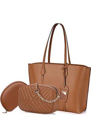 NUBILY Handtasche für Frauen, Tragetasche, Leder, Schultertasche, Umhängetasche, Geldbörsen-Set