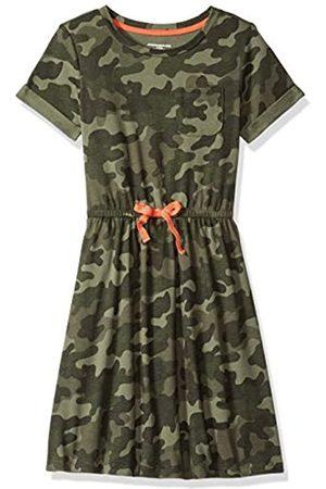 Amazon Girl Short-Sleeve Elastic Waist T-Shirt playwear-dresses, Camo With Coral Bow