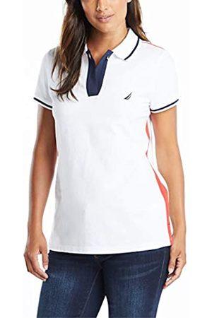 Nautica Damen Toggle Accent Short Sleeve Soft Stretch Cotton Polo Shirt Poloshirt