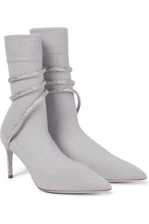 RENÉ CAOVILLA Verzierte Ankle Boots Cleo aus Strick