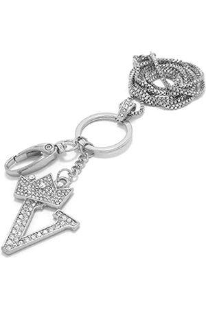 Sometheme Special Unisex-Halskette mit Anhänger, Buchstabe A bis Z, mit Schlüsselring/Ausweishalter
