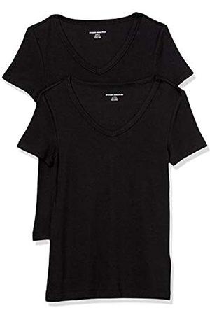 Amazon Damen fashion-t-shirts 2-pack Slim-fit Short-sleeve V-neck T-shirt