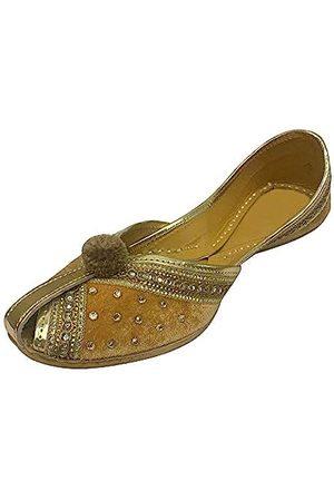 Step N Style Damen Samt & Leder Khussa Schuhe Punjabi Jutti Indische Handmade Flip Flop