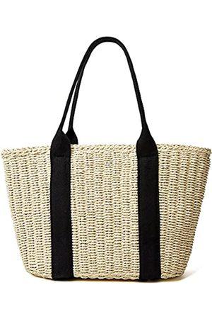 Epsion Damen Strohtasche Sommer Strand Große Tragetasche Handgemachte Gewebte Schulter Crossbody Handtasche, (A- )