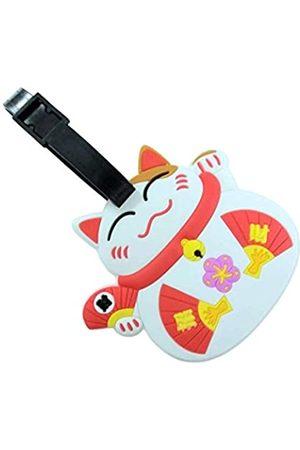 NEW KIE Kie Tag Lucky Cat Silikon Gepäck-Adressetikett ID Koffer Reiseanhänger Gepäck-Namens-Halter Identifier