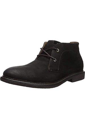 Lucky Brand Men's Mason Chukka Boot, Black Leather