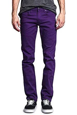 VICTORIOUS Herren Skinny Fit Color Stretch Jeans - - 40W / 32L