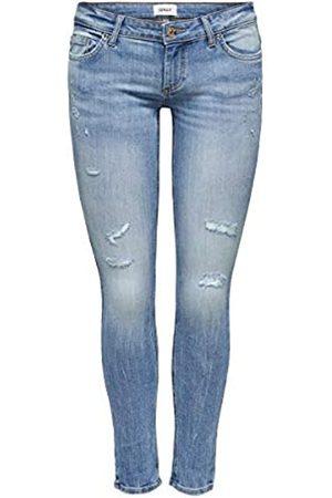 ONLY Female Skinny Fit Jeans ONLCoral SL Destroy 2930Medium Blue Denim