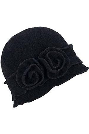Lawliet Damen Mütze Gatsby 1920er Winter Wollmütze Baskenmütze Beanie Crochet Bucket Flower Hat A285 - - Einheitsgröße