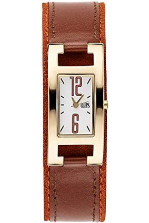 CLIPS Damen-Armbanduhr Analog Quarz Leder 553-1006-16