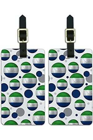 Graphics and More Graphics & More Futbol Fußball Country z-Sierra Leone Flagge Fußball - Luggage.Tags.09818