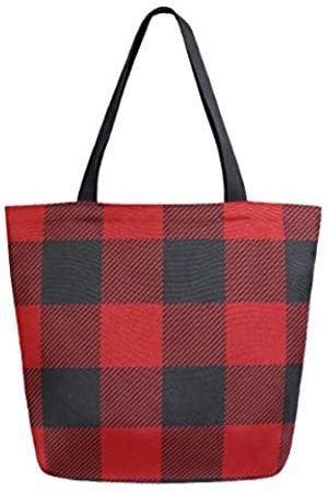 alaza Einkaufstasche für Damen und Mädchen, Schottenkaro
