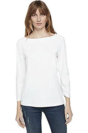 TOM TAILOR Damen 1022834 Boat Neck T-Shirt, 10315-Whisper White