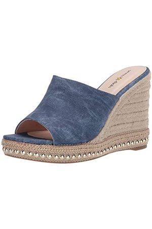 Seven Dials Womens Wedge Sandal,Blue/Fabric