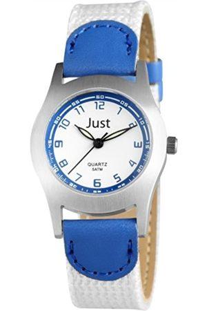 Just Watches Unisex-Armbanduhr Analog Quarz Textil 48-S0011-BL