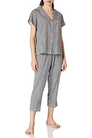 Women secret Damen Pijama camisero Capri cuadritos Vichy Zweiteiliger Schlafanzug