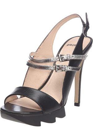 Bronx BX 301 83971-B, Damen Sandalen/Fashion-Sandalen, (black/steel 1)